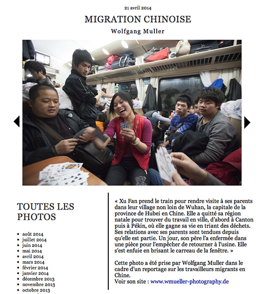 Migration Chinoise | 6MOIS online | 2014